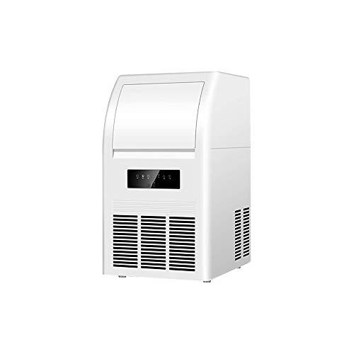 HIZLJJ Eiswürfelmaschinen, EIS-Hersteller-Maschine Eismaschine löschen Betrieb Control Panel Edelstahl-Finish tragbar und kompakt Eisherstellungsmaschine High Efficiency Macht mit Eisschaufel