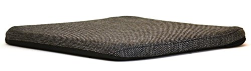 Mc Carty's RSC-Char Sacro-Ease Deluxe Seat Support Bottom Cushion with Extra Padding, 15-Inch Wide, Charcoal