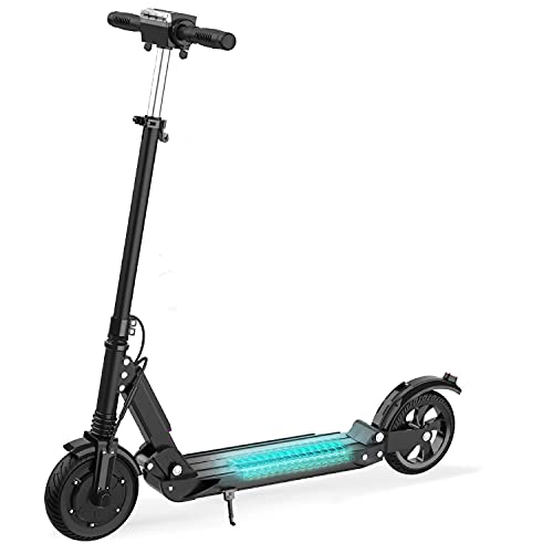 MARKBOARD Patinete Eléctrico con Alcance de 30 Km Scooter Eléctrico Plegable 350W Batería 7.5AH Ajustable la Altura 3 Modos de Velocidad para Adolescentes y Adultos