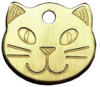 Personalizado sólido, durable cabezas de gato Pet ID Tag Discos (grabado gratuito)
