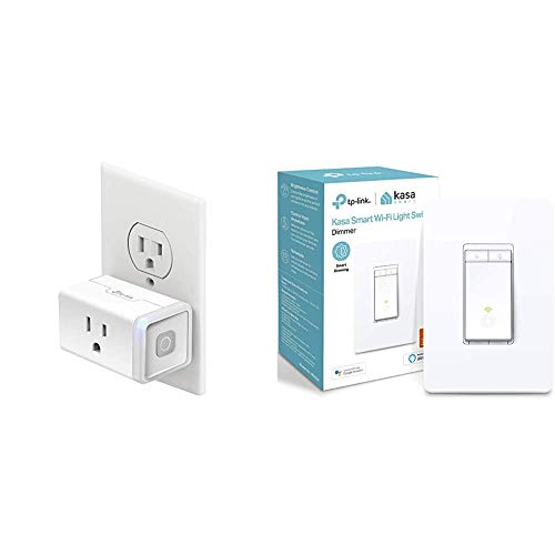 Kasa Smart Plug by TP-Link & Smart Dimmer Switch by TP-Link, Single Pole, Needs Neutral Wire,WiFi Light Switch for LED Lights, Compatible with Alexa and Google Assistant,UL Certified, 1-Pack(HS220)