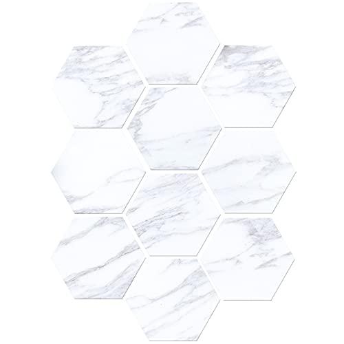 azulejos adhesivos cocina,10 piezas de pegatinas de baldosas de suelo con patrón de ladrillo blanco y negro, pegatinas de suelo para sala de estar, pegatinas de pared para baño y cocina, color blanco