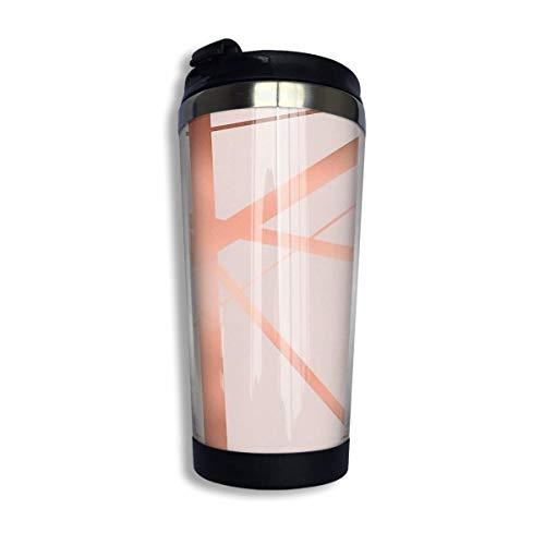 Hdadwy Taza de acero inoxidable para taza de café, rosa y cobre, taza de acero inoxidable con aislamiento al vacío de lujo, taza de viaje de café de 13.5 oz