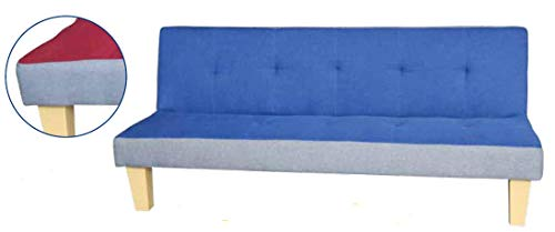 DIVANI Divano Letto 'Click CLACK Duplo' Blu in Tessuto