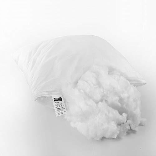 LILENO HOME Füllwatte 2kg im praktischen Vlies Beutel - Füllmaterial u. Füllwatte für Kuscheltiere, Kissen, Basteln - Kissen Füllung waschbar bis 95 °C - perfekt als Watte o. Bastelwatte