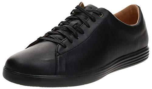 Cole Haan Men's Grand Crosscourt II Sneakers, Black Leather/Blk, 10.5