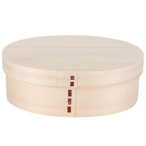 Fiambrera Bento de madera, recipientes para almuerzo, caja Bento a prueba de fugas con fiambrera de madera doble para estudiantes, trabajador, 17,5x13,5 cm(A)