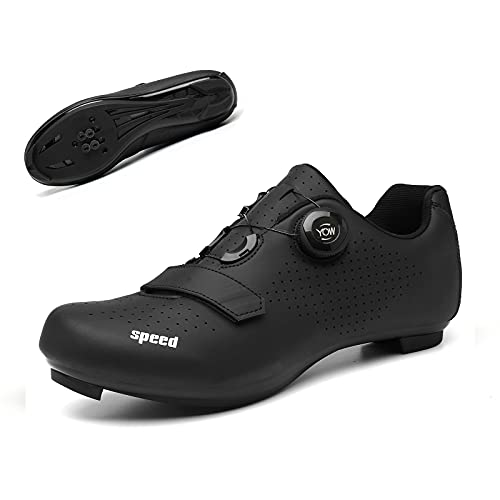 Bike Shoes Cycling Shoes for Men Premium Road Bike Shoes Professional Indoor Cycling Shoes Bike Shoe with SPD for Men Lock Pedal Bike Shoes