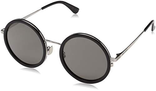 Saint Laurent SL 136 COMBI Sunglasses 001 Black/Silver / Grey Lens 52 mm
