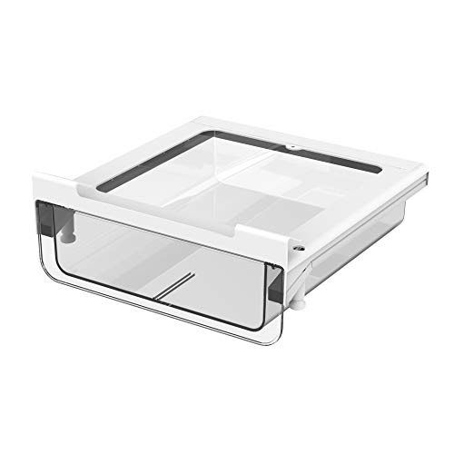Under Shelf Drawer Pull Out,vacane Under Cabinet Organizer Hanging Storage Baskets Easy to Install,Durable BPA-Free Plastic Storage Organizer for Closet Kitchen Pantry Office,Clear