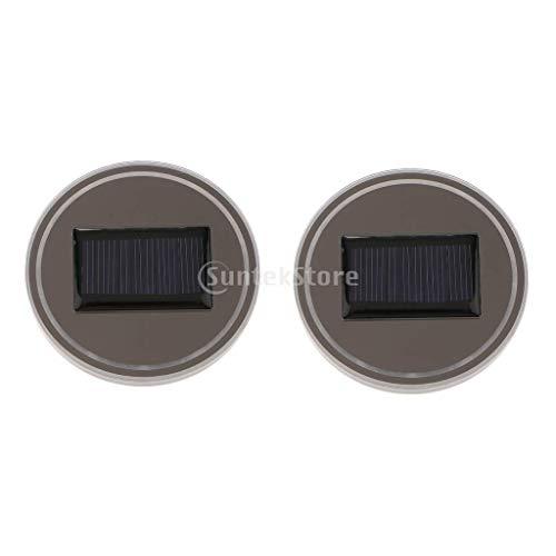 B Blesiya 2pcs Porte-gobelet Voiture LED Decoration Auto lumière