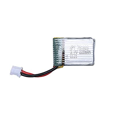 HOLY STONE 1pcs 3.7V 220mAh Lipo Battery for HS210 RC Quadcopter Drone from Holy Stone