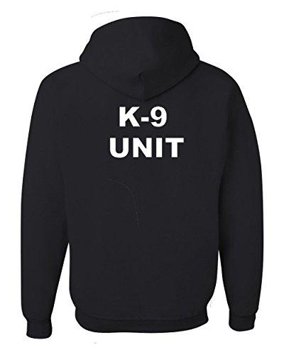 Got-Tee- K-9 Unit Poice Duty K9 Hoodie/Sweatshirt - Two Sides Print (M, Navy Blue)