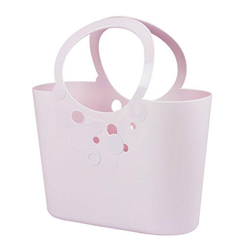 Große XXL Size moderne Handtasche 21 L Picknickkorb hell violett Griffe Lily Strandtasche Tasche Basket
