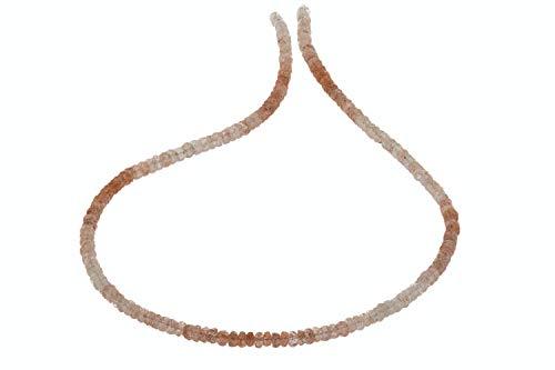 1001Kristall Gama de botones facetada 3,5-4 mm/42 cm, gravilla de hierro extra
