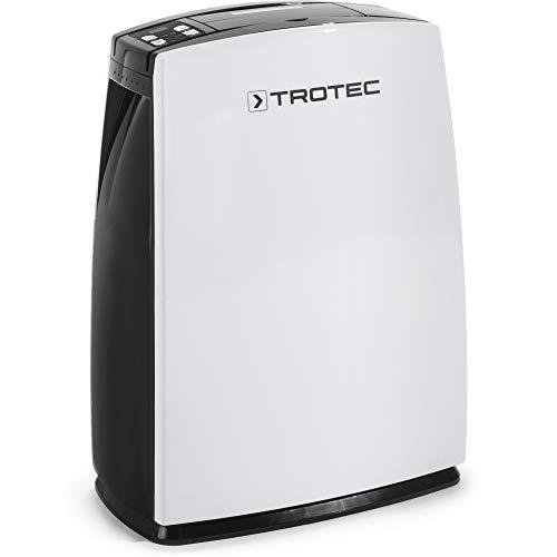 TROTEC Deshumidificador eléctrico TTK 51 E, 16L/24h, Indicador LED, Depósito 2,3 L, Portátil. Para Habitaciones de hasta 31m²/78m³, Compacto, Filtro de Aire, Silencioso, 340 W, Auto-Apagado, Higrostato