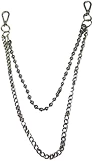 Double Metal Chain Iron Hip Hop Trend Beaded Chain Stainless Steel Chain Fashion Decorative Accessories
