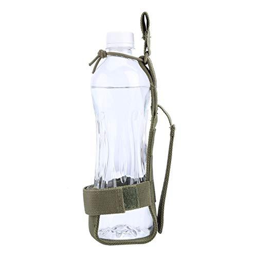 YUUGAA Bolsa de Botella de Agua, 3 Colores Durable Nylon Soporte para Botella de Agua Cinturón Portabotellas Impermeable para Ciclismo(Ejercito Verde)