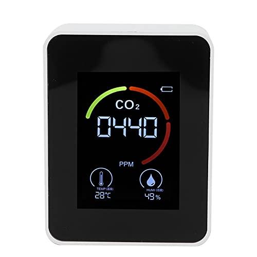 Monitor De Calidad del Aire, Medidor Detector De CO2 En Tiempo Real PortáTil con Sensor De Alta PrecisióN Pantalla De Alta DefinicióN Medidor De Temperatura Y Humedad para Casa HabitacióN Oficina
