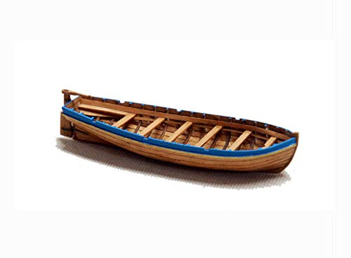 QLSQ Modelo de embarcación Kits de construcción Modelo de Barco Modelo de Barco Modelo de Madera Cortada con láser Modelo de Barco Antiguo 1/48 Kit de Modelo de Bote Salvavidas
