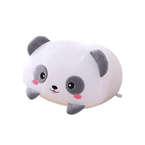 AIXINI 8 inch Cute Panda Plush Stuffed Animal Cylindrical Body Pillow,Super Soft Cartoon Hugging Toy Gifts for Bedding, Kids Sleeping Kawaii Pillow