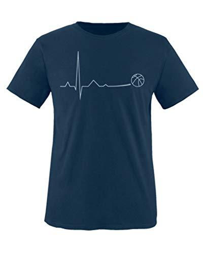Comedy Shirts - Pulsschlag Basketball - Jungen T-Shirt - Navy/Eisblau Gr. 152-164