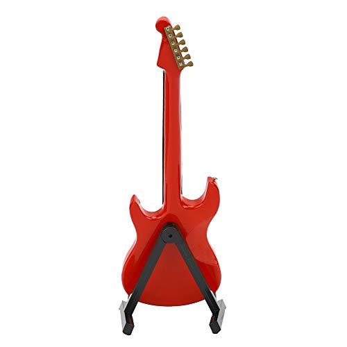 AMONIDA Artesanías de Guitarra roja en Miniatura, Hermoso Modelo de Guitarra eléctrica,...
