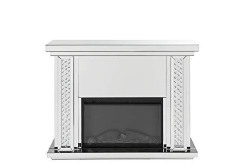 ACME Furniture  Nysa Fireplace, Mirrored