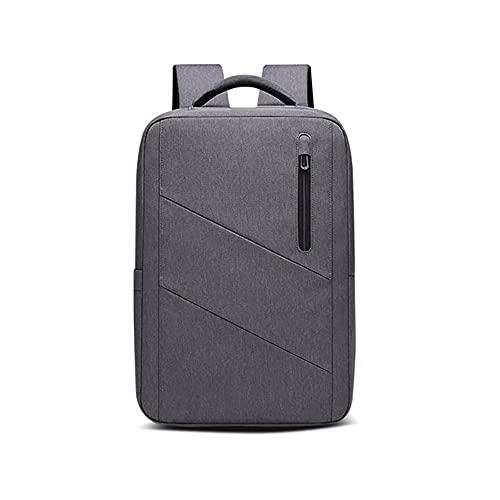 Kfhfhsdgsamsjb Mochila para Hombres, Ajuste 15.6inch computadora portátil USB recargamiento Mochila Impermeable Oxford Viaje Anti-ladrón Bolsa Masculina (Color : Grey)