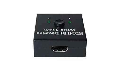 lizeyu Resolución: conmutador de Video HDMI 4096 * 2160, Divisor HDMI de una Salida de Dos Cortes, convertidor bidireccional HDMI de Alta definición 2 en 1 Inteligente