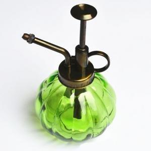 ROKFSCL 250 ML Water Spray Fles Vintage Pompoen Stijl Decoratieve Glazen Planter Verstuiver Kan Pot met Top Pomp voor Binnen Potplanten Terrariums Bloemen free size Groen