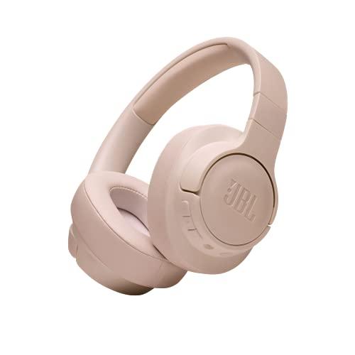 JBL T710BT Auriculares Over Ear con Bluetooth - Auriculares de diadema ligeros con batería de hasta 50 horas y cable extraíble, color rubor