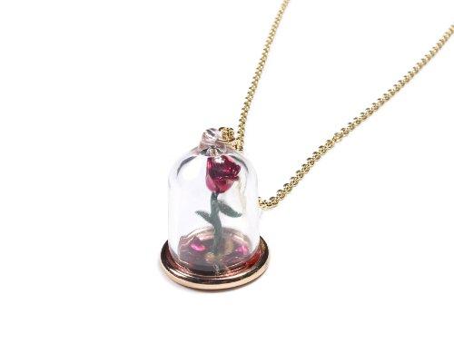 Disney Colgante de cristal de rosa de la belleza y la bestia