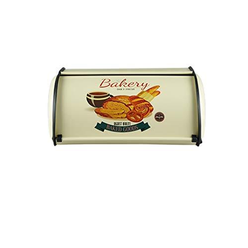 Français Vintage Bleu Boîte À Pain De Stockage Bin Keeper Alimentaire Cuisine Conteneur Galvanisé Fer Snack Boîtes pour La Décoration Intérieure (Color : C)