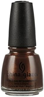 China Glaze Nail Lacquer With Hardeners - 14 Ml, Unplugged - Brown