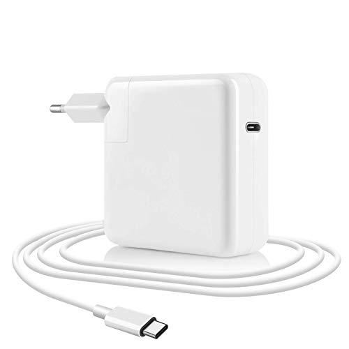 Type C Ladegerät,87W USB C Netzteil Kompatibel mit MacBook Pro/Air Ladegerät, Kompatibel mit USB C 87W 61W&30W Stromversorgung Schnellladung für MacBook Pro 13''15'' 2016Late MacBook Air mit Kabel