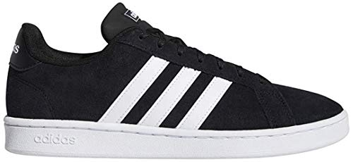 adidas Men's Grand Court Tennis Shoe, black/white/white, 10.5 M US
