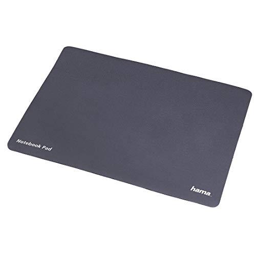 Hama Mouse-Pad 3in1 (220x345mm): Mikrofaser-Mauspad, Display-Schutz und Reinigungs-Tuch, geeignet für Notebooks mit einer Bildschirmdiagonale von 40cm (15,6 Zoll), anthrazit