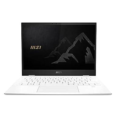 MSI Summit E13 Flip Evo Business Professional Laptop: 13.4″ FHD+ 1200p, Intel Core i5-1155G7, Intel Iris Xe, 16GB, 512GB SSD, Thunderbolt 4, WiFi 6E, TPM 2.0, Win10, Pure White (A11MT-235)
