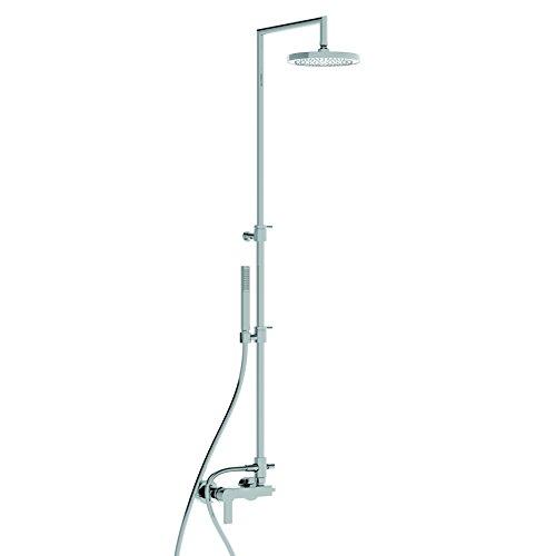 Mengpaneel voor de badkamer, met Italiaanse turf, 150 buiten, douchekop, compleet met kraag en SOFFIONECROMO