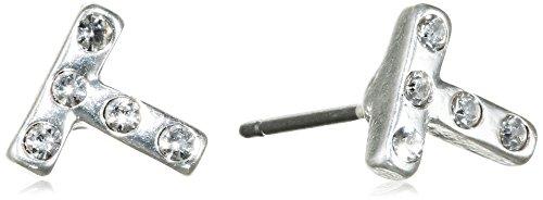 Pilgrim orecchini da donna con cristallo taglio rotondo, mod. Winter, 0,3cm–26154_ 0,3