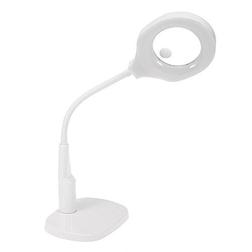 5x 12x LED Lampe Loupe avec Pince de Table Loupe Cosmétiques Tatouage Manucure pour le Salon de Beauté Pratiques Aider à la Lecture