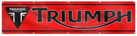 Dimike Triumph Flagge 2 x 2,4 m Motorrad Racing Banner