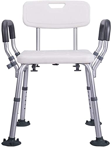Silla/Taburete de baño y Ducha, Taburetes de baño, silla de ducha con espalda |Asamblea libre de herramientas |Bañera |para discapacitados, personas mayores, bariátricas, un ,Ayuda para baño para
