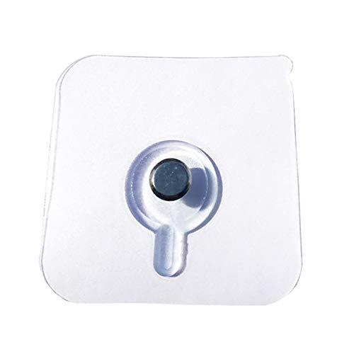 unknow Ristiege Transparente klebrige Kleiderbügel Haken Nagelfrei Utility Deckenhaken Home Organisation 8er-Set,6mm