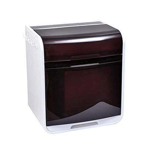 YANGYUAN Rack de vajillas de Cocina, con Caja de Almacenamiento de vajillas de Tapa, Estante de desagüe del Plato Armario de plástico para el hogar, Soporte de Espacio para Ahorrar Espacio
