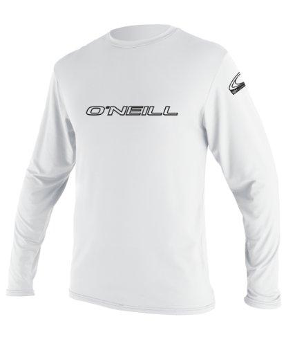 O'Neill Youth Basic Skins UPF 50+ Long Sleeve Sun Shirt, White, 8