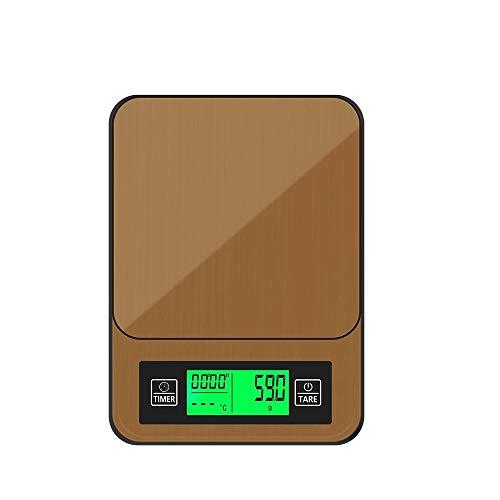 Elektronische Waage mit 1 kg / 0,1 g Kaffeewaage und Timer-Wiegewerkzeug, elektronisches Flüssigkristalldisplay mit Schmuckgewicht, Tropfwaage mit Küchengramm