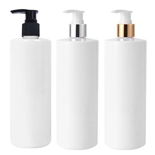 Topbathy leere Seifenspender, einfache Lotion-Flasche für Schaumemulsion, Handwäsche, Shampoo (weiß), Pumpflaschen, 3 Stück à 500 ml