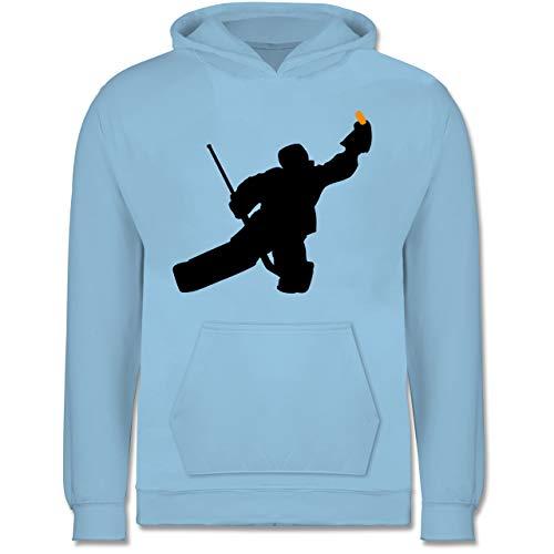 Sport Kind - Towart Eishockey Eishockeytorwart - 152 (12/13 Jahre) - Hellblau - Eishockey Torwart - JH001K JH001J Just Hoods Kids Hoodie - Kinder Hoodie